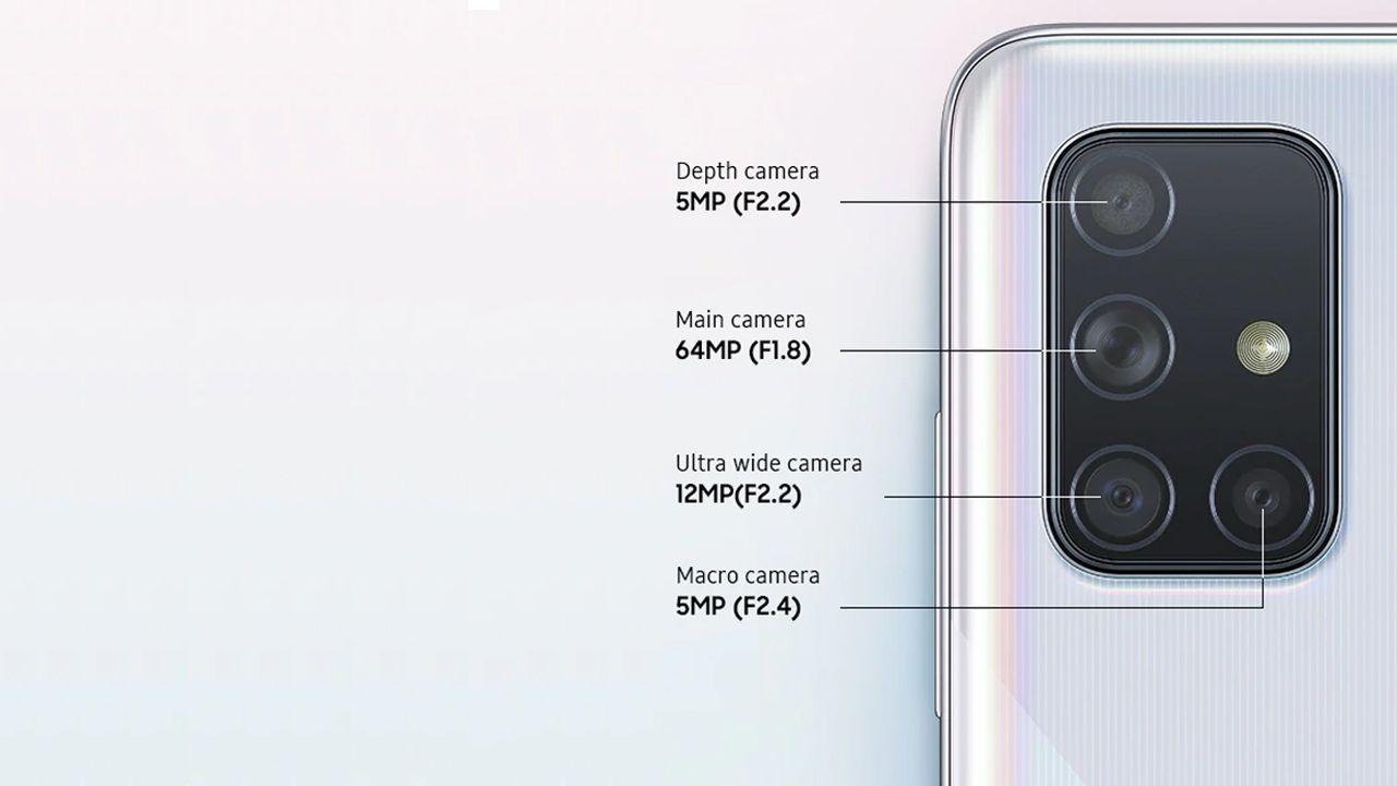 Conjunto de câmeras do Galaxy A71 (Foto: Divulgação/Samsung)