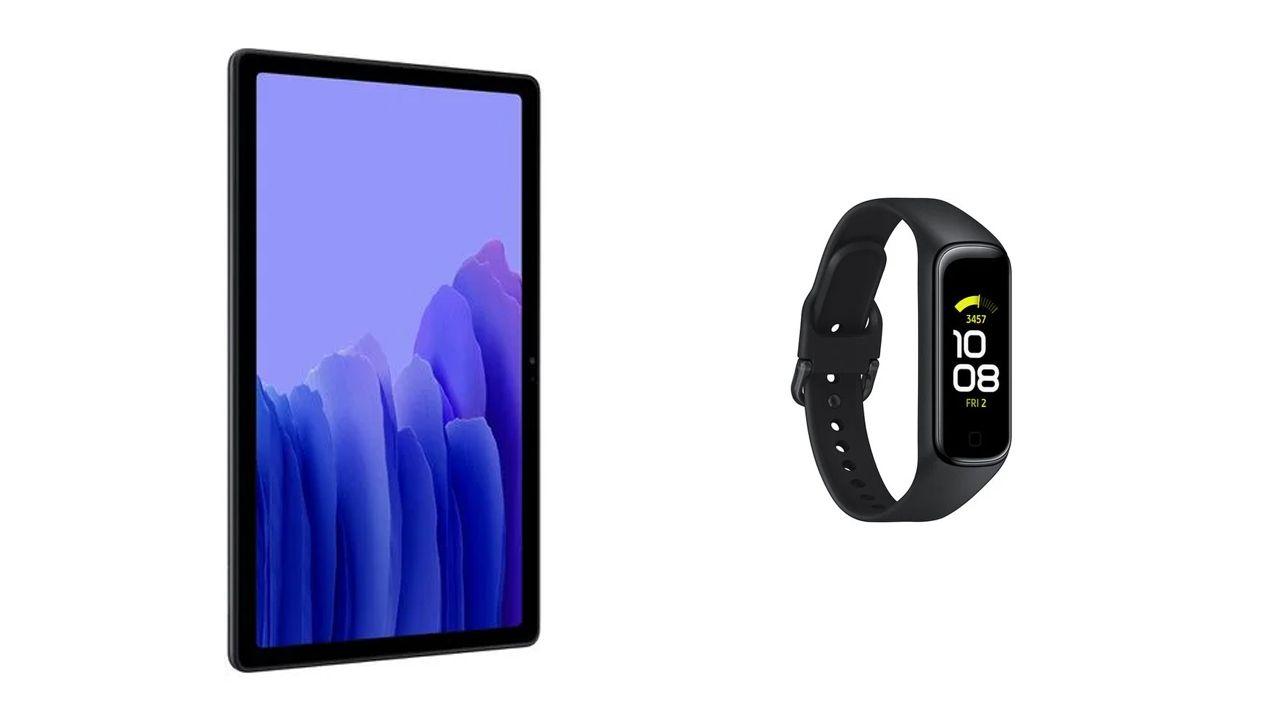 Galaxy Tab A7 e Galaxy Fit2 (Foto: Reprodução/Samsung)