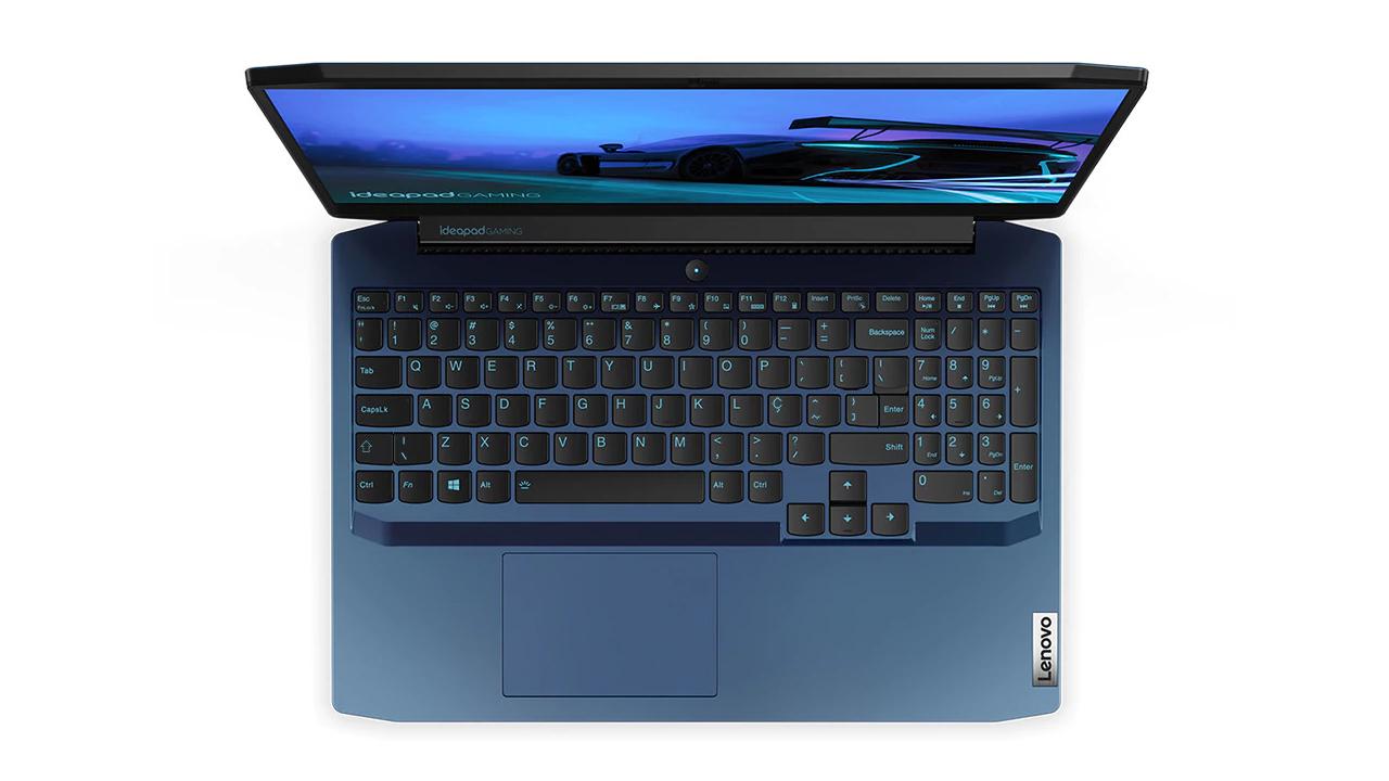 Novo notebook gamer conta design moderno e display com bordas finas (Foto: Divulgação/Lenovo)