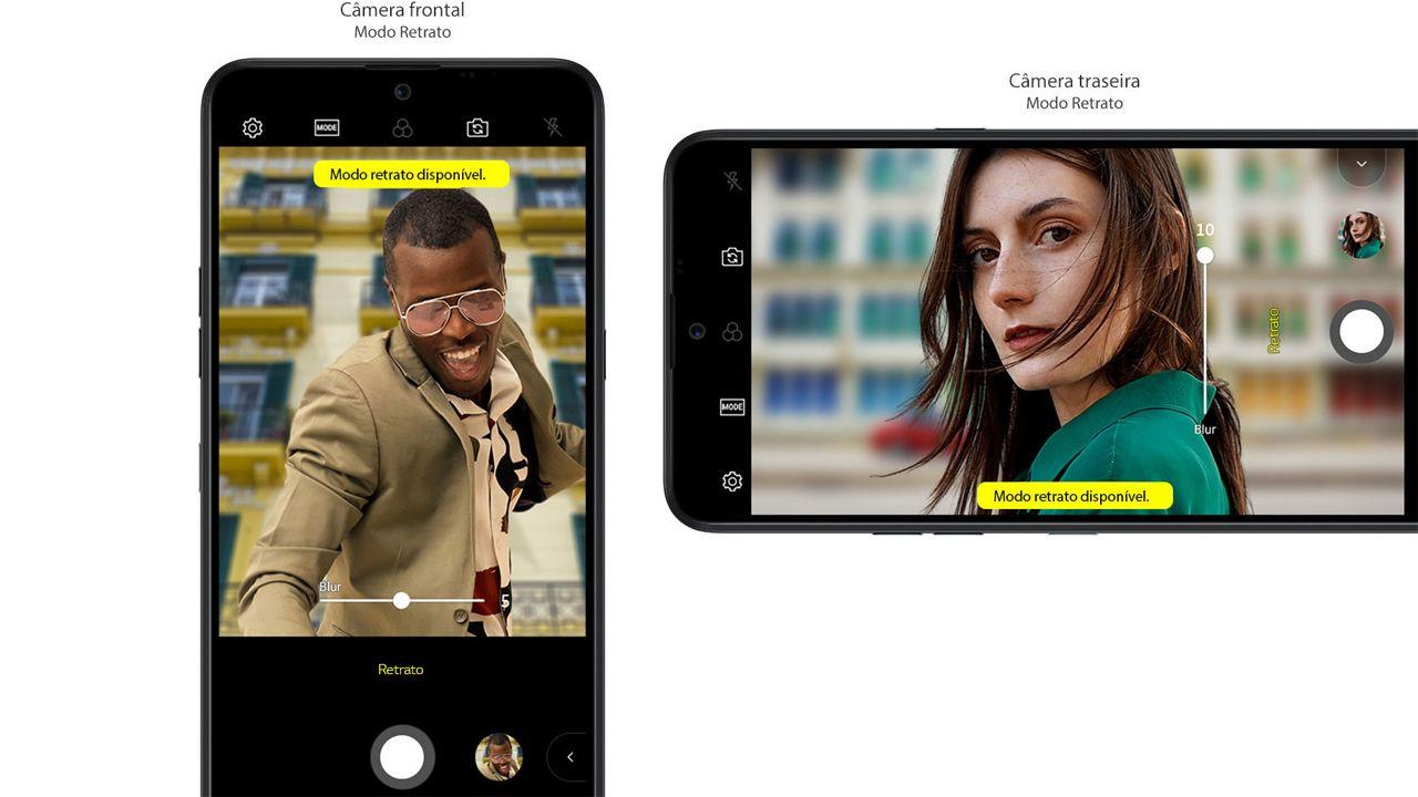 O LG K50S tem modo retrato para a câmera traseira e frontal (Foto: Divulgação/LG)