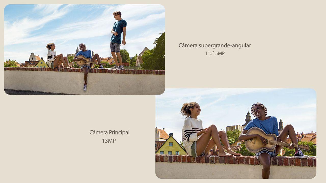 Diferença de enquadramento da câmera normal e a ultra-wide (Foto: Divulgação/LG)