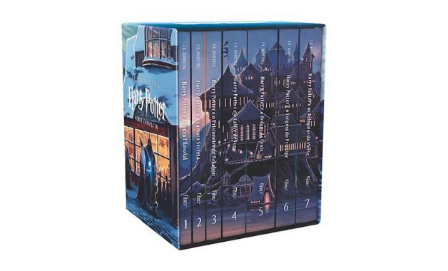 Box do Harry Potter, escrito por J. K. Rowling, é o título mais vendido no Zoom. (Imagem: Divulgação/Rocco)