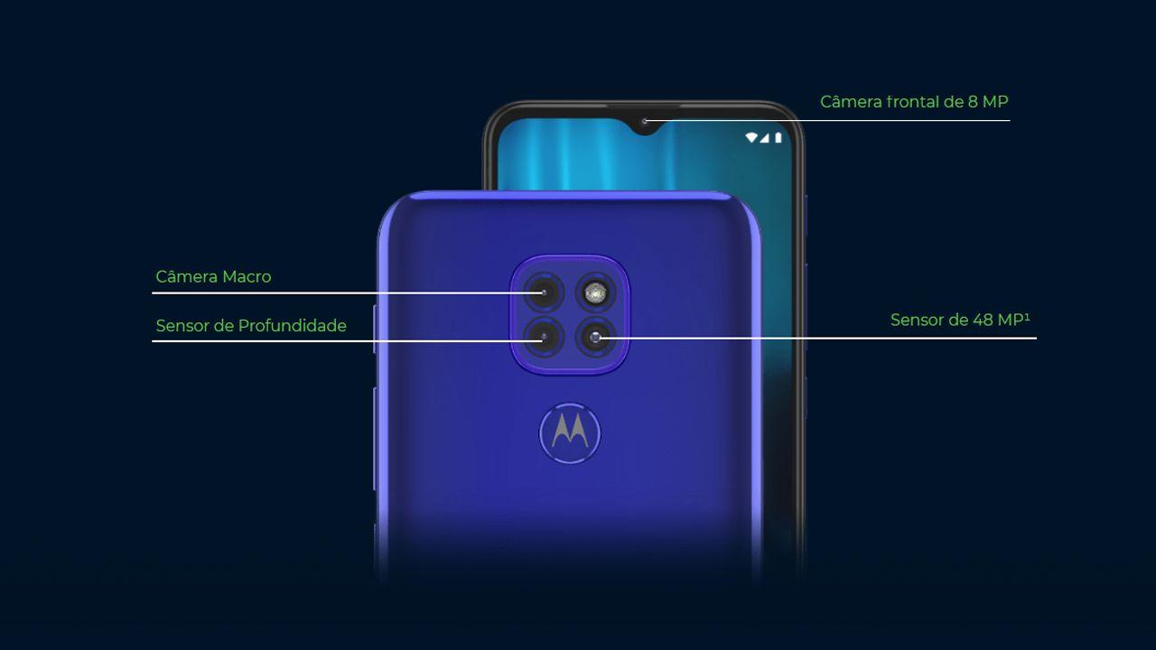 Conjunto de câmeras do Moto G9 Play (Foto: Divulgação/Motorola)