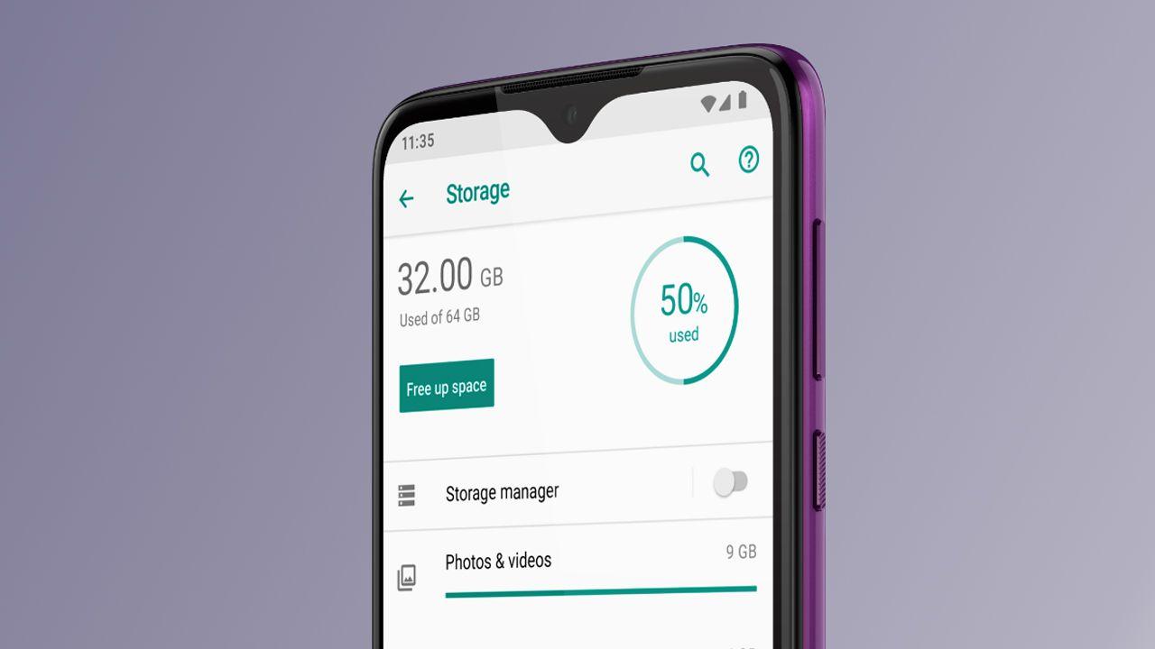 O Motorola One Macro conta com 64 GB de memória (Foto: Divulgação/Motorola)