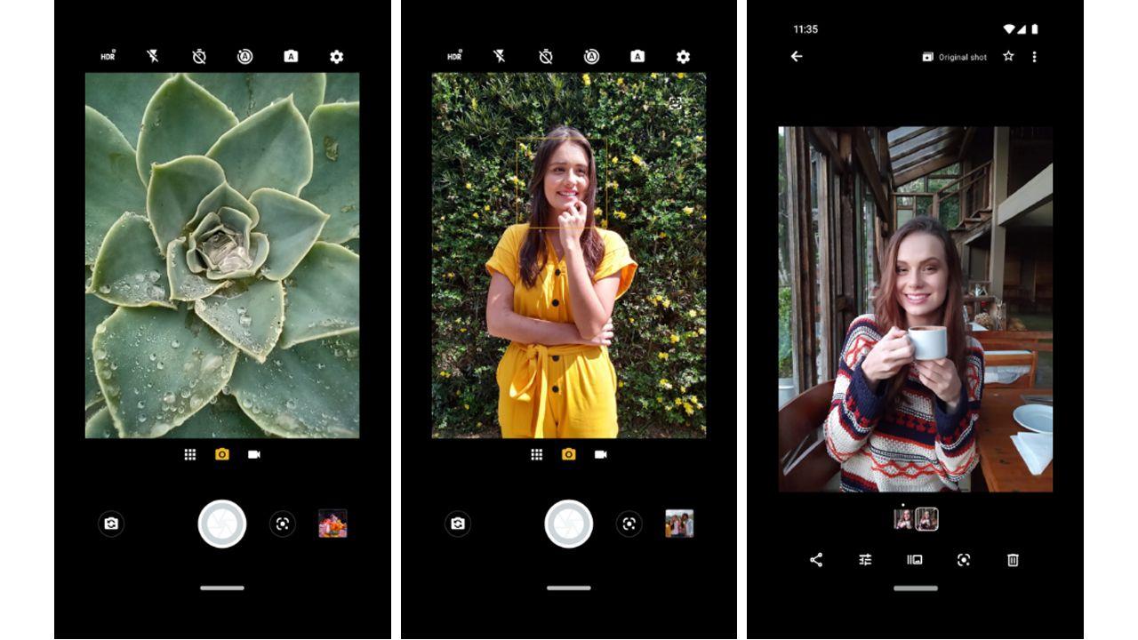 Algumas funcionalidades das câmeras do One Macro (Foto: Divulgação/Motorola)