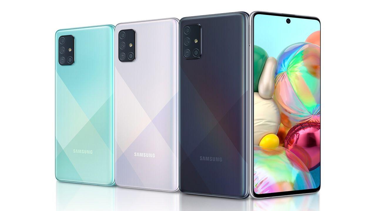Design do Galaxy A71 (Foto: Divulgação/Samsung)