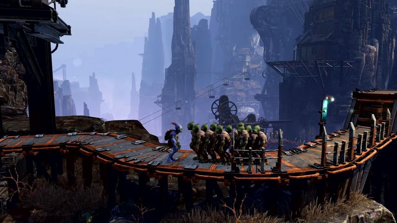 Oddworld: Soulstorm chega ao PS4 e PS5 ainda em 2020. (Foto: Reprodução/Murilo Tunholi)