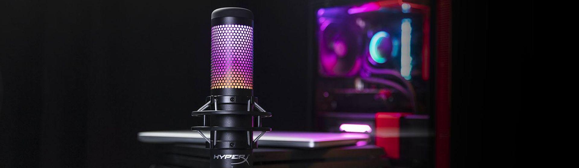 HyperX lança QuadCast S, microfone gamer com RGB; veja preço