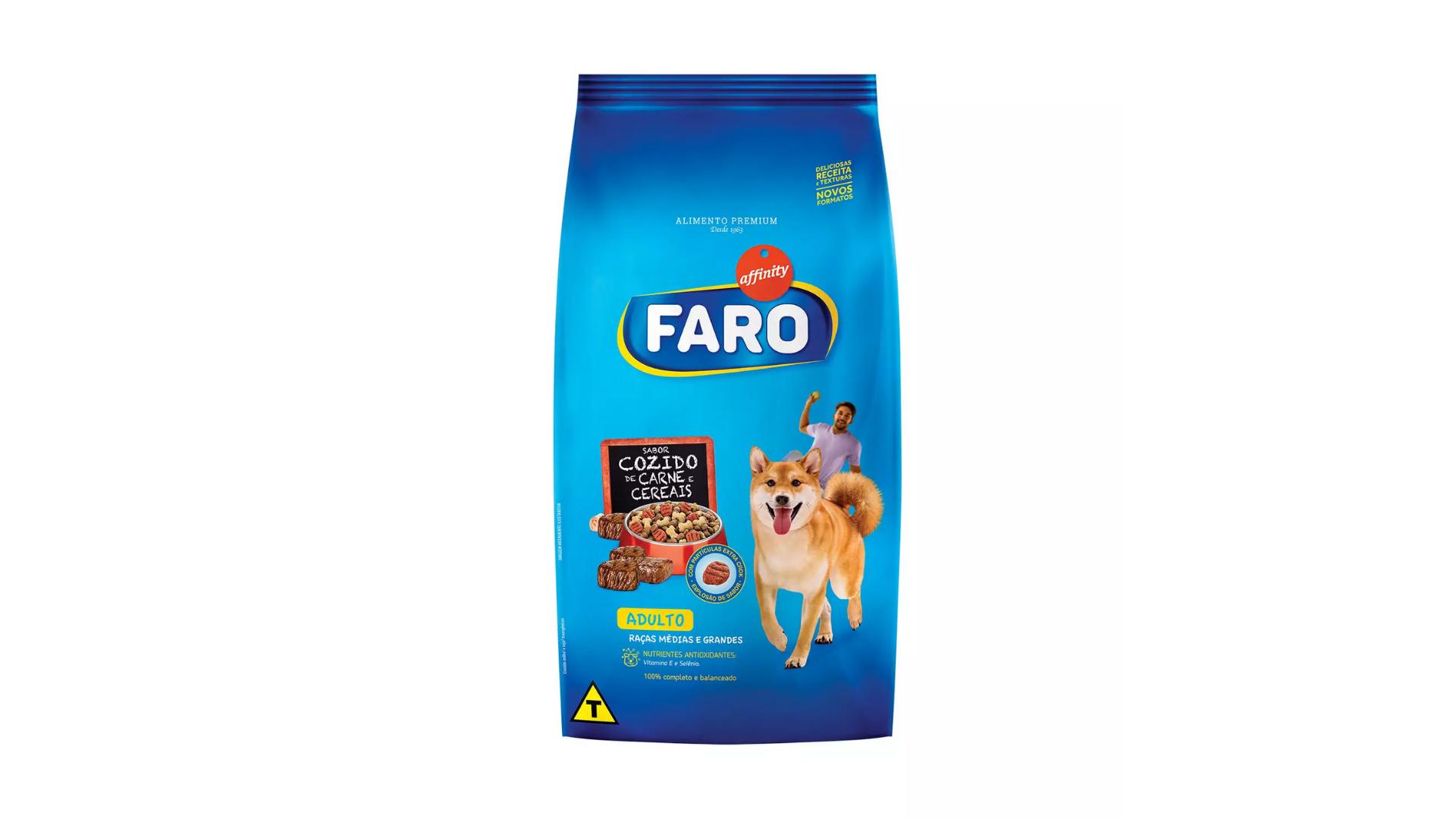 A ração Faro Affinity é do tipo Standard (Divulgação/Affinity)