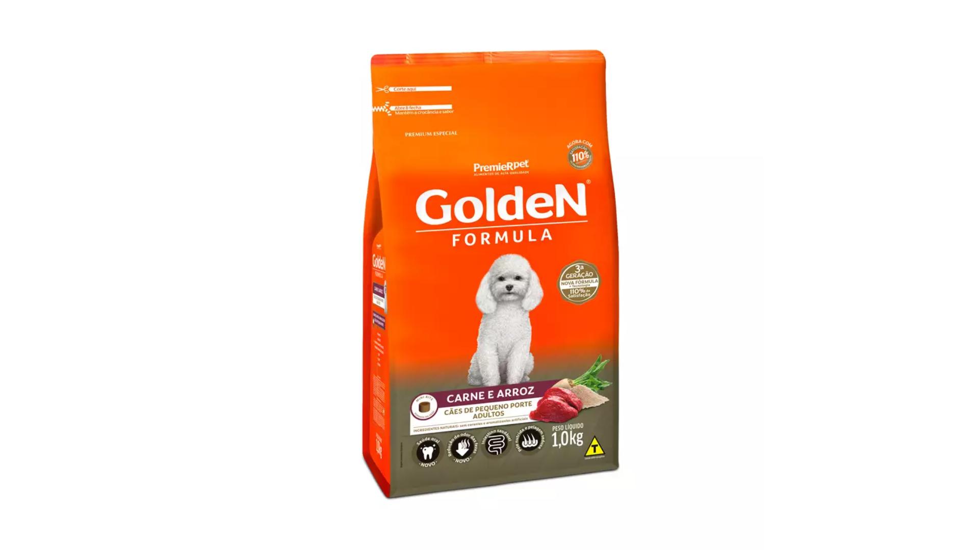 A ração Golden Formula é do tipo Premium (Divulgação/PremieR Pet)