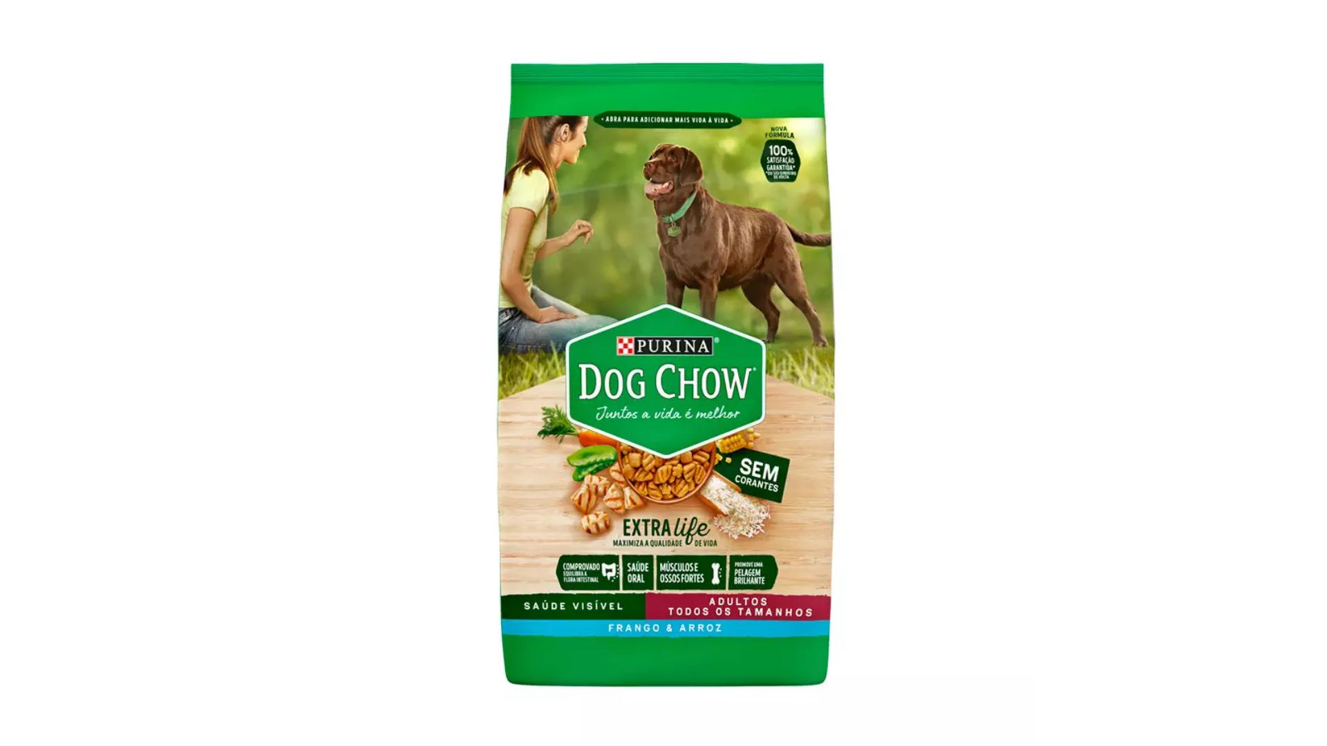 A ração Purina Dog Chow é do tipo Premium (Divulgação/Nestlé)