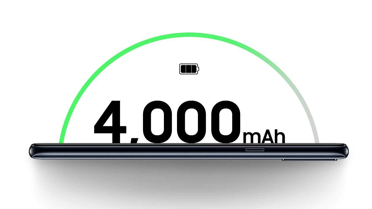 O Galaxy A20s tem suporte a carregamento turbo (Foto: Divulgação/Samsung)