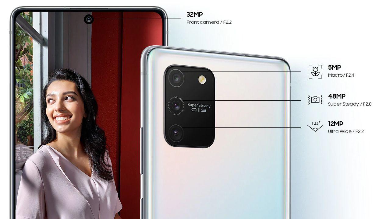Conjunto de câmeras do Galaxy S10 Lite (Foto: Divulgação/Samsung)