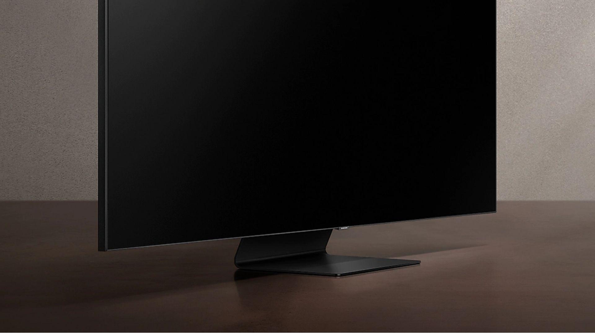 Samsung traz um design sofisticado para a tela da Q95T. (Imagem: Divulgação/Samsung)