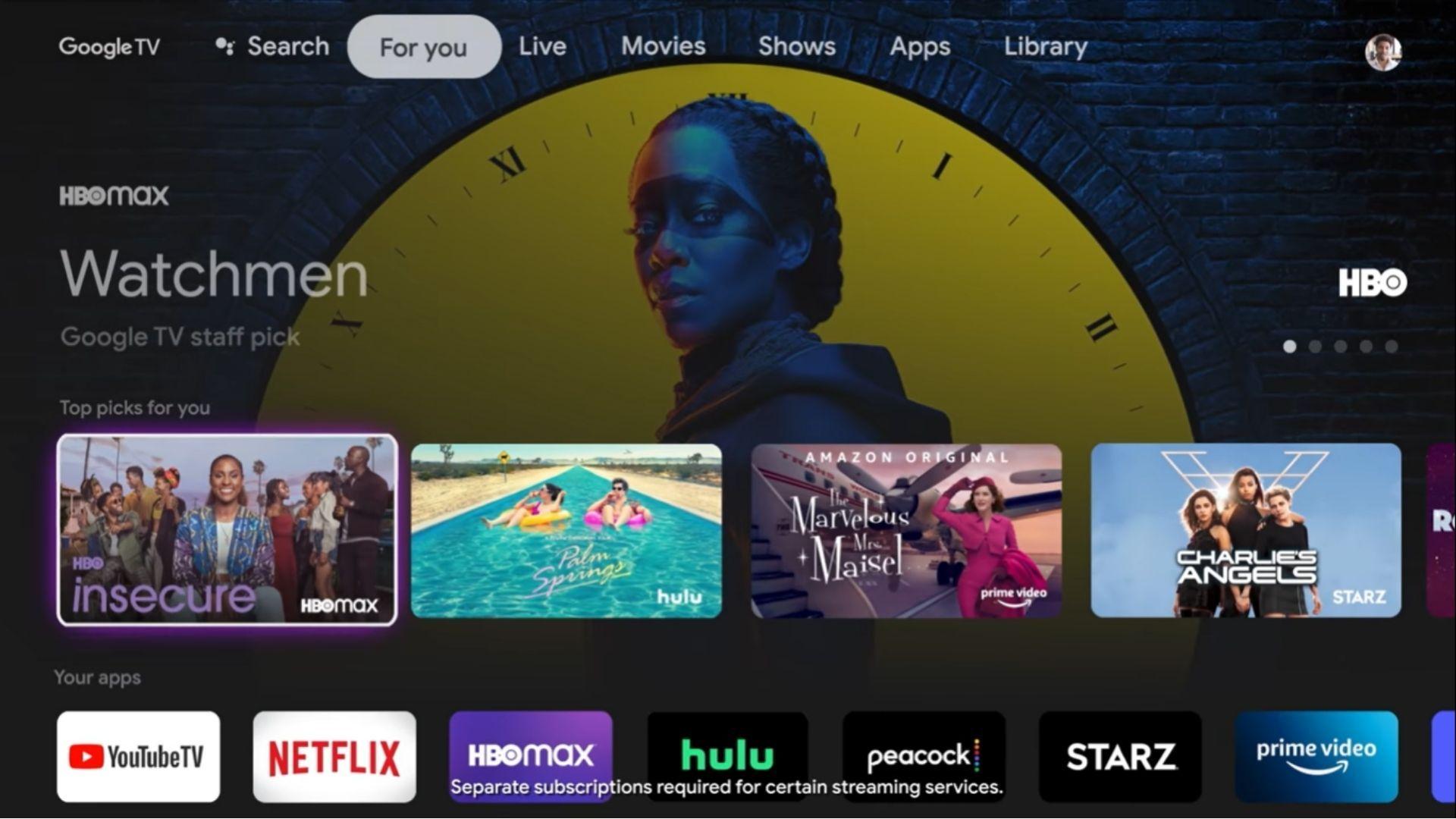 Chromecast chega com o novo sistema operacional do Google, o Google TV. (Imagem: Reprodução/Google)