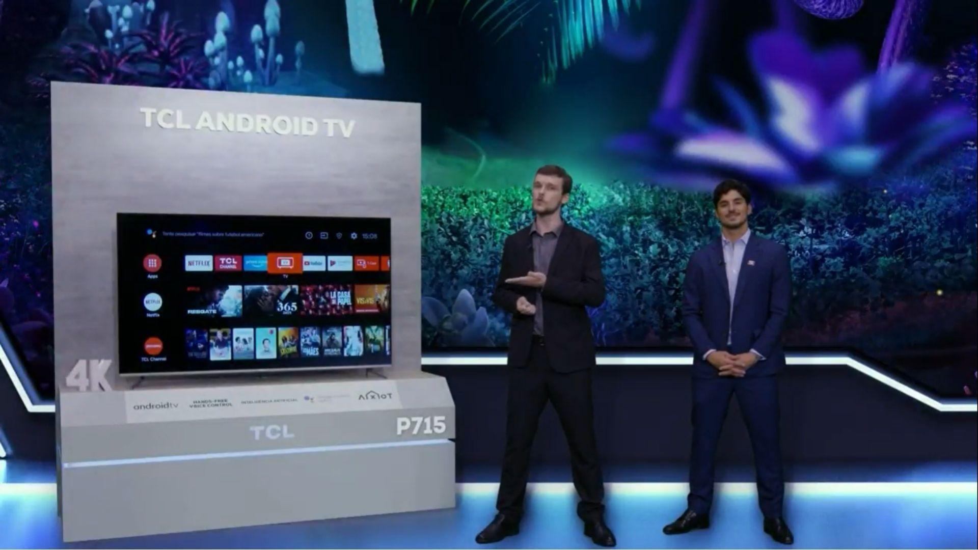 TCL P715 é a nova Android TV com resolução 4K da marca. (Imagem: Reprodução/TCL)