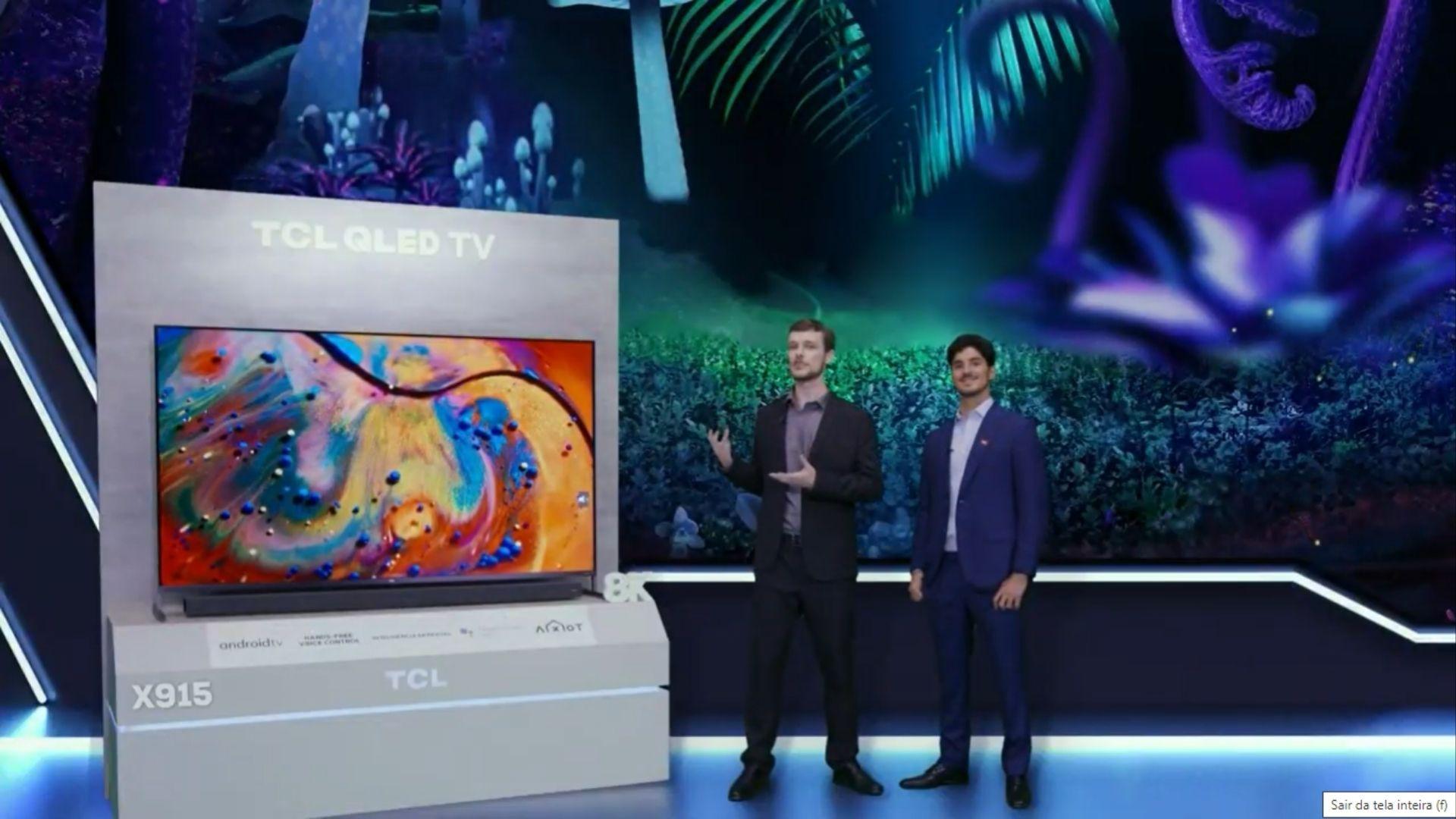 TCL X915 é a nova TV QLED 8K da marca. (Imagem: Reprodução/TCL)
