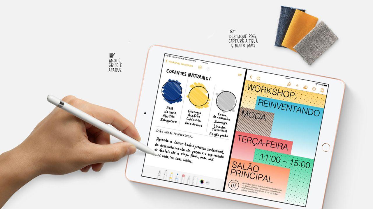 O iPad tem compatibilidade total com a Apple Pencil (Foto: Divulgação/Apple)