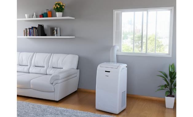 Instalar um ar condicionado portátil é bom e mais fácil em janelas de correr. (Imagem: Divulgação/Consul)