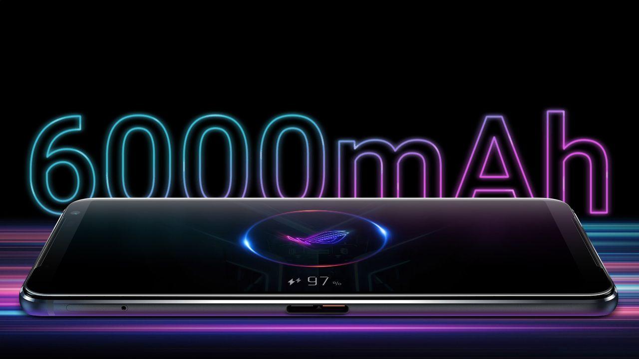 ROG Phone 3 possui bateria com incríveis 6.000 mAh de capacidade (Foto: Divulgação/Asus)