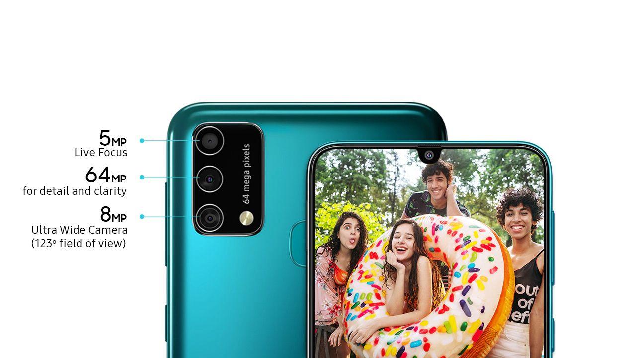 Conjunto de câmeras do Galaxy F41. (Foto: Divulgação/Samsung)