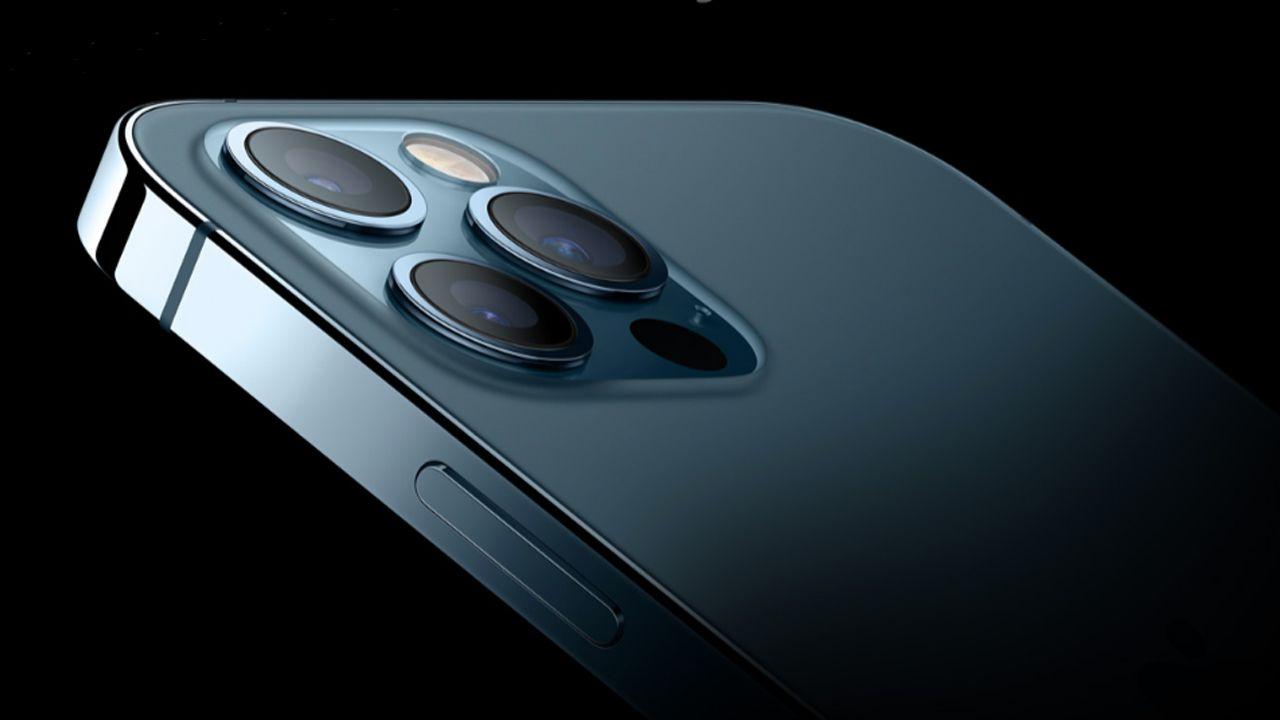 Conjunto de câmeras do iPhone 12 Pro Max. (Foto: Divulgação/Apple)