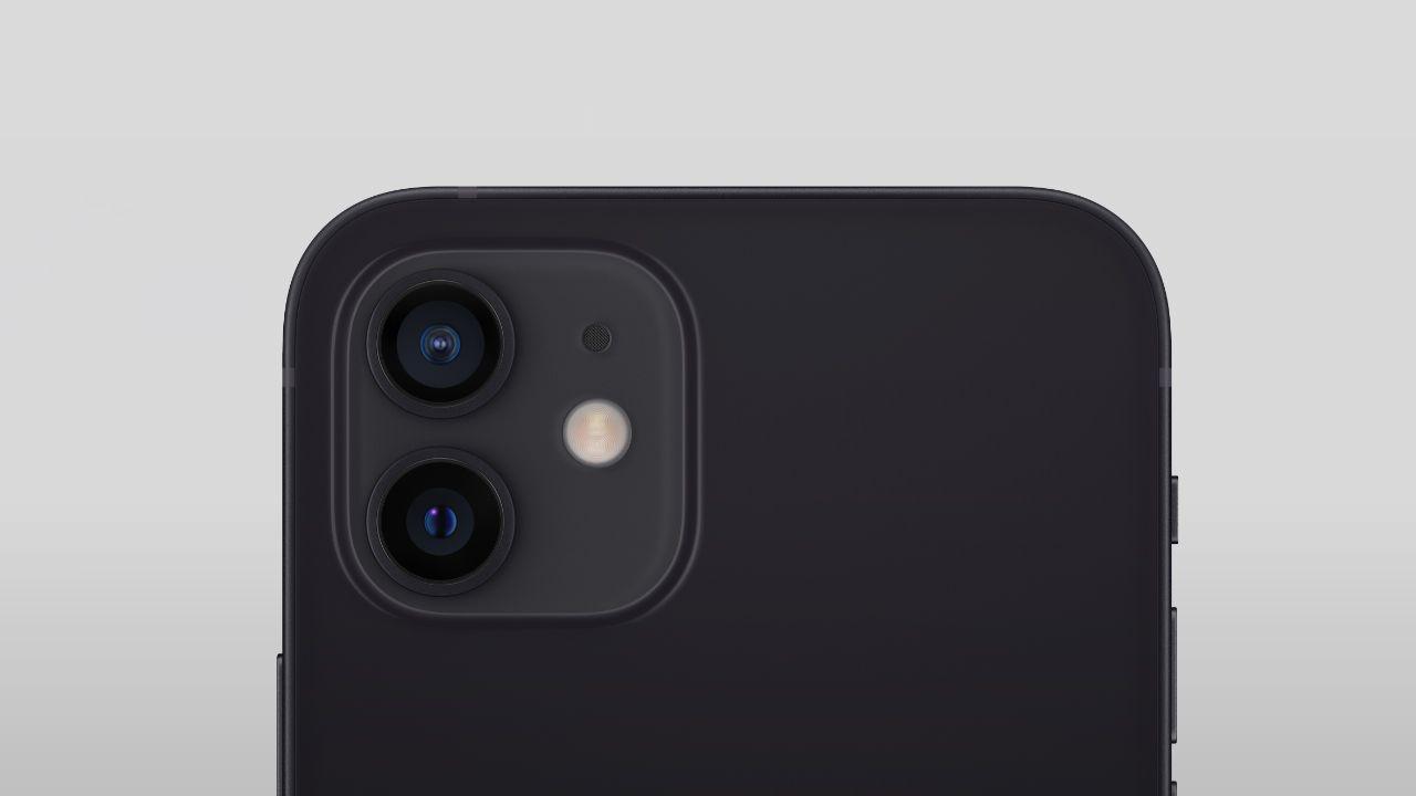 Conjunto de câmeras do iPhone 12. (Foto: Divulgação/Apple)