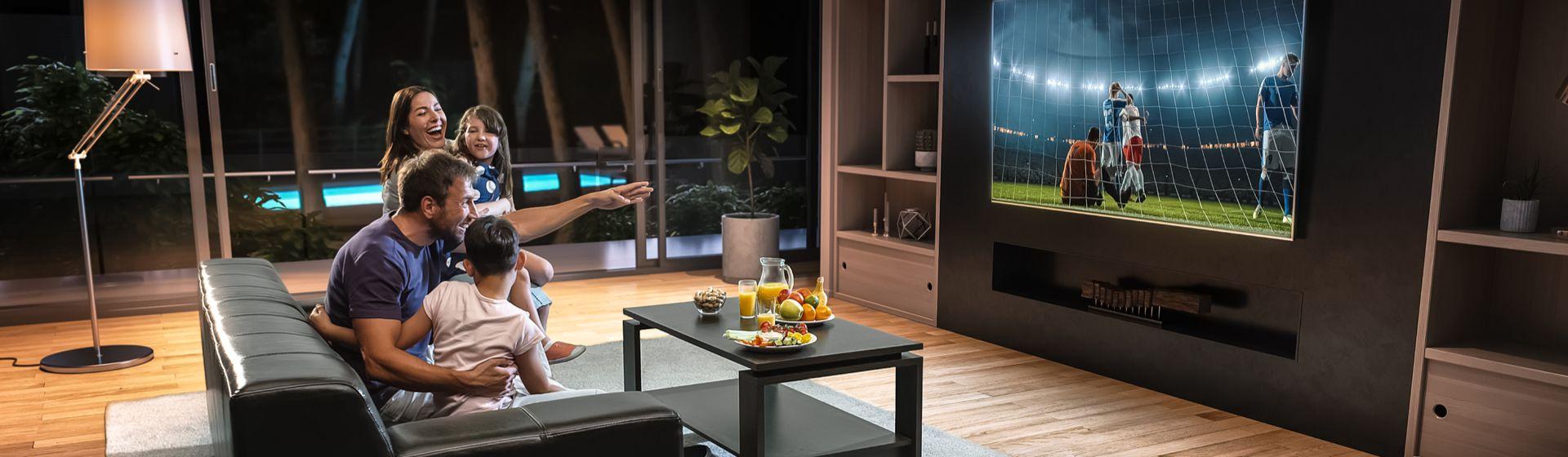 Qual deve ser a distância entre TV e sofá?