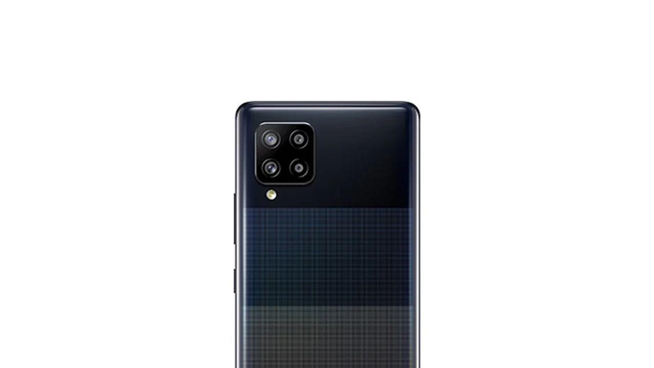 Conjunto de câmeras do Galaxy A42 5G. (Foto: Divulgação/Samsung)