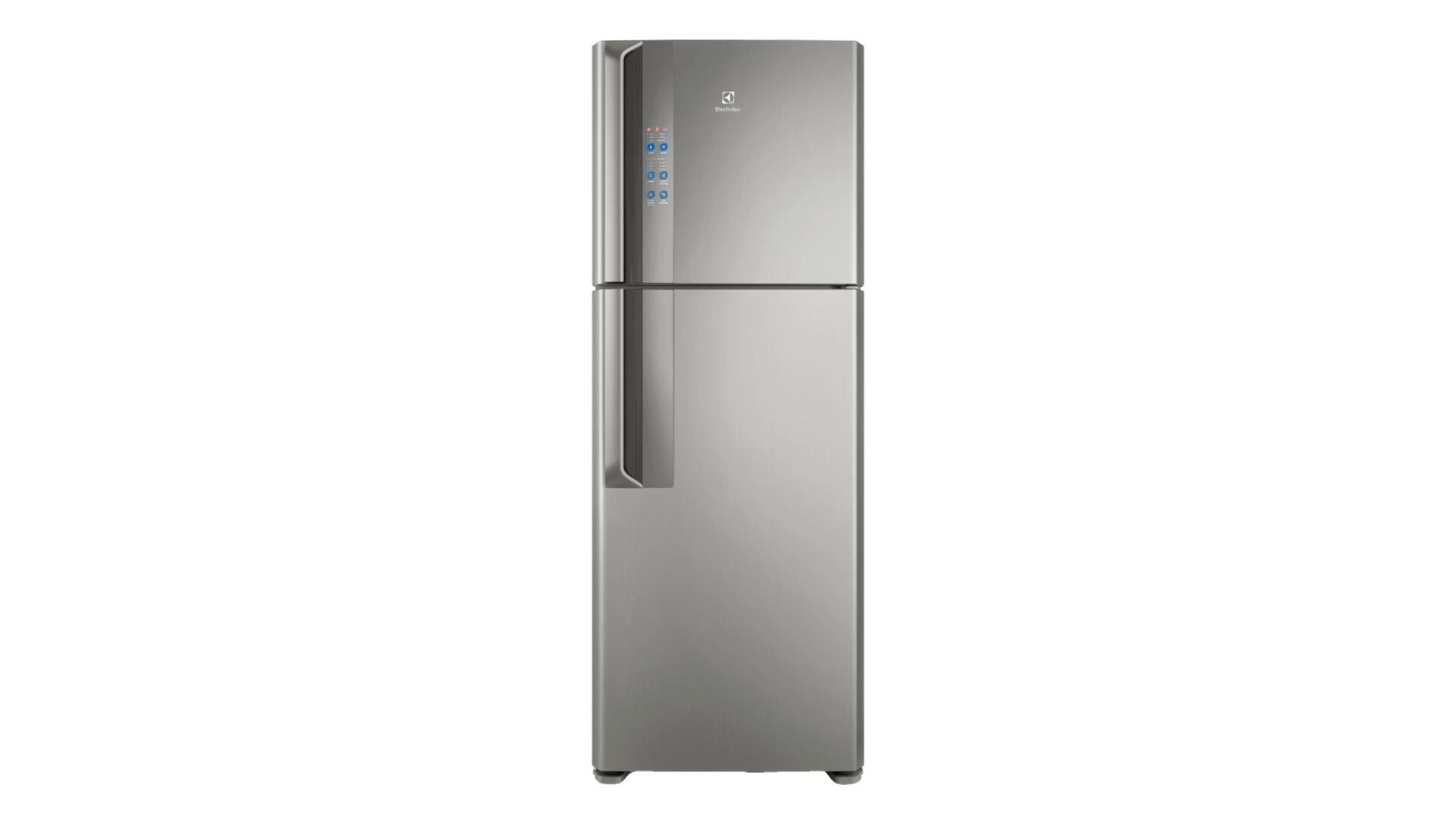 A geladeira Electrolux DF56 também pode ser encontrada em uma versão de inox, a DF56S (Imagem: Divulgação/Electrolux)