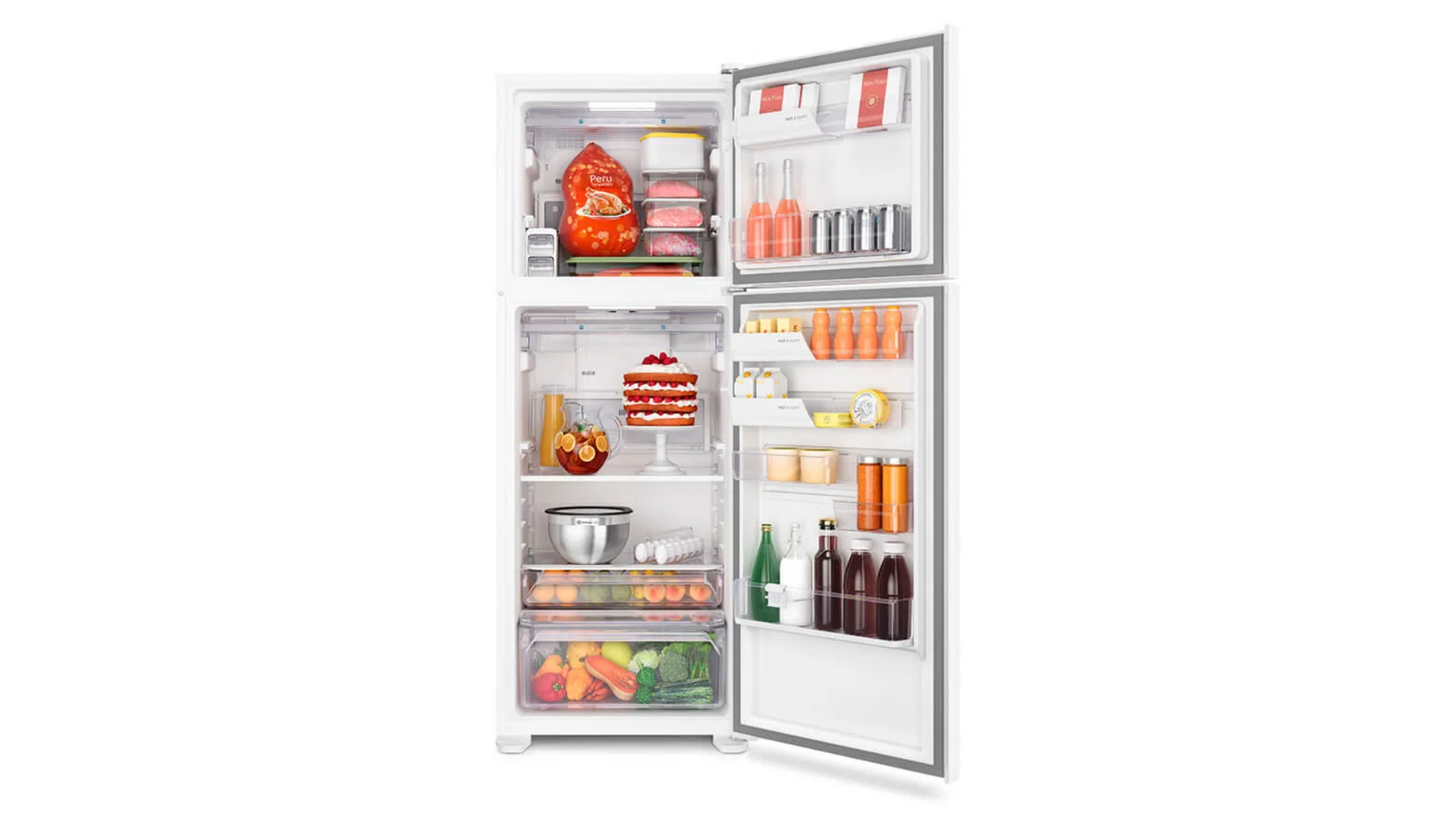 A geladeira da Electrolux tem capacidade total de de 474 litros (Imagem: Divulgação/Electrolux)
