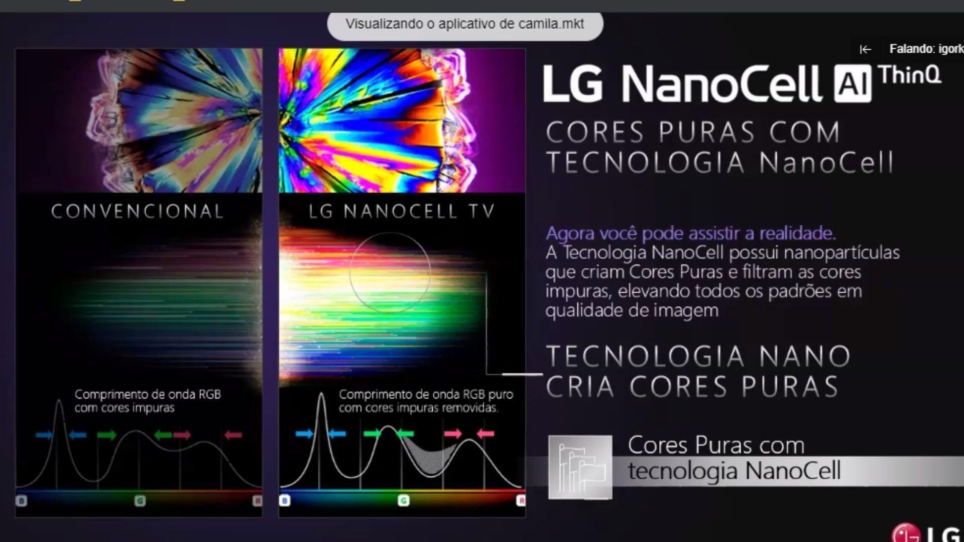 Tecnologia NanoCell entrega uma gama de cores mais puras. (Imagem: Reprodução/LG)