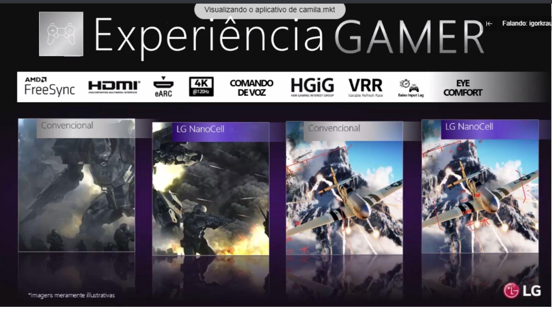 TVs LG NanoCell são ótimas opções para os gamers. (Imagem: Reprodução/LG)