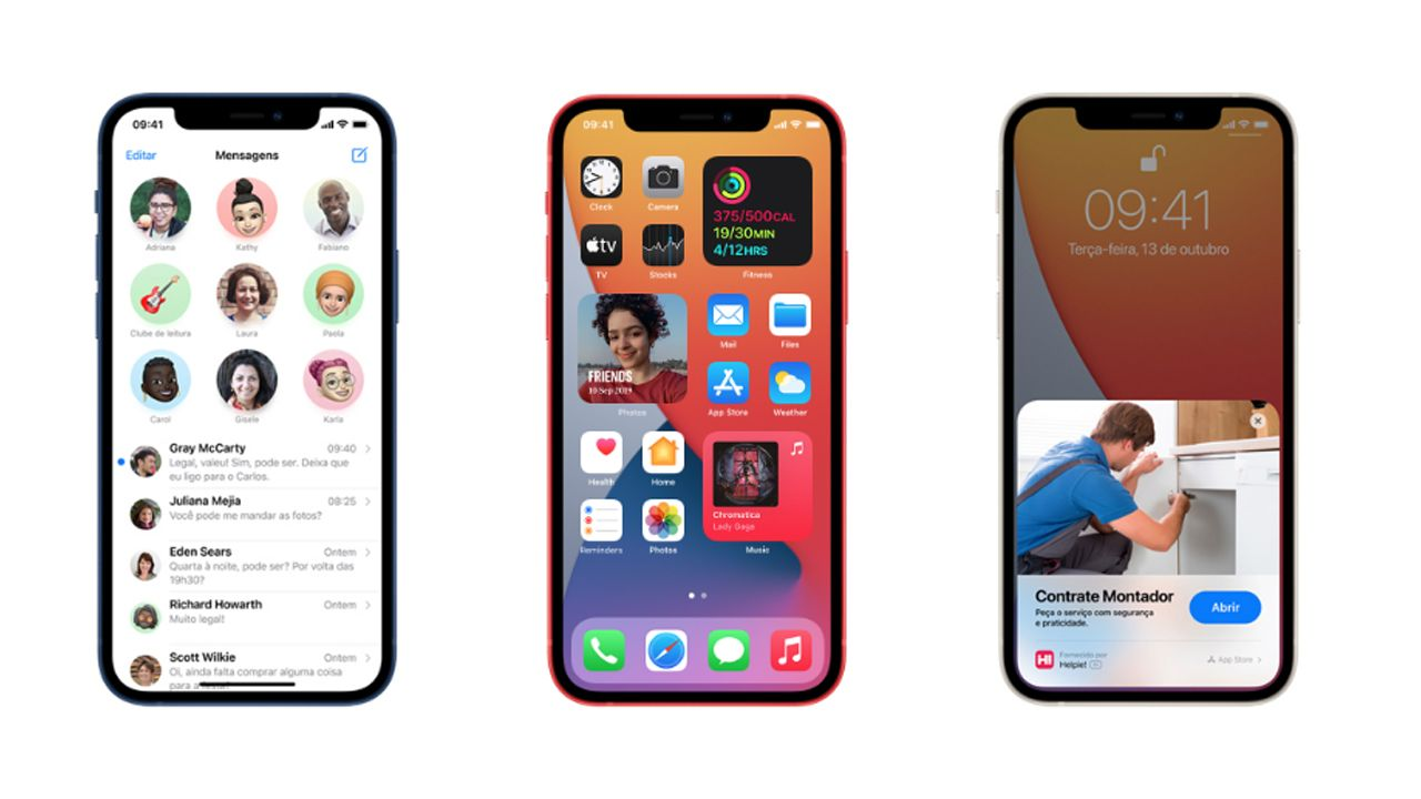 O iOS 14 já estará instalado de fábrica no iPhone 12. (Foto: Divulgação/Apple)