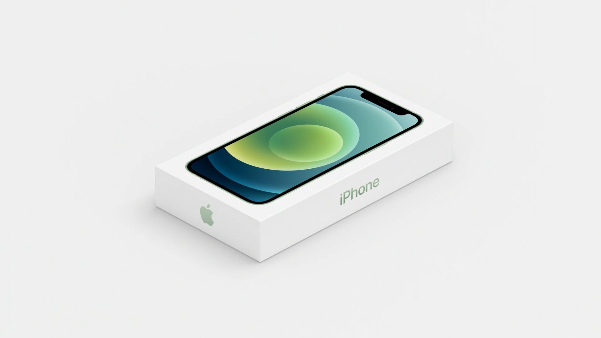 A caixa do iPhone 12 está mais fina que as versões anteriores (Foto: Reprodução/Apple)