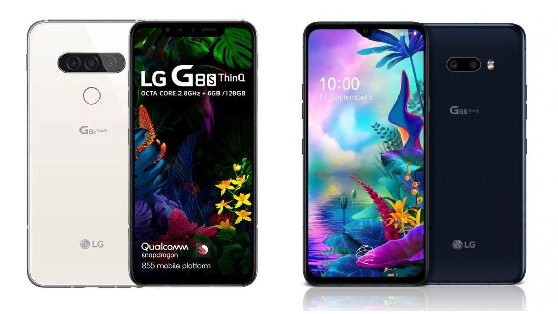 À esquerda, o LG G8s, à direita o LG G8X (Foto: Divulgação/LG)