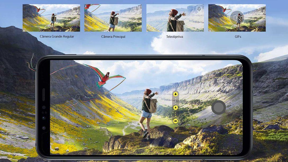 O LG G8s possui três câmeras diferentes na parte traseira. (Foto: Divulgação/LG)