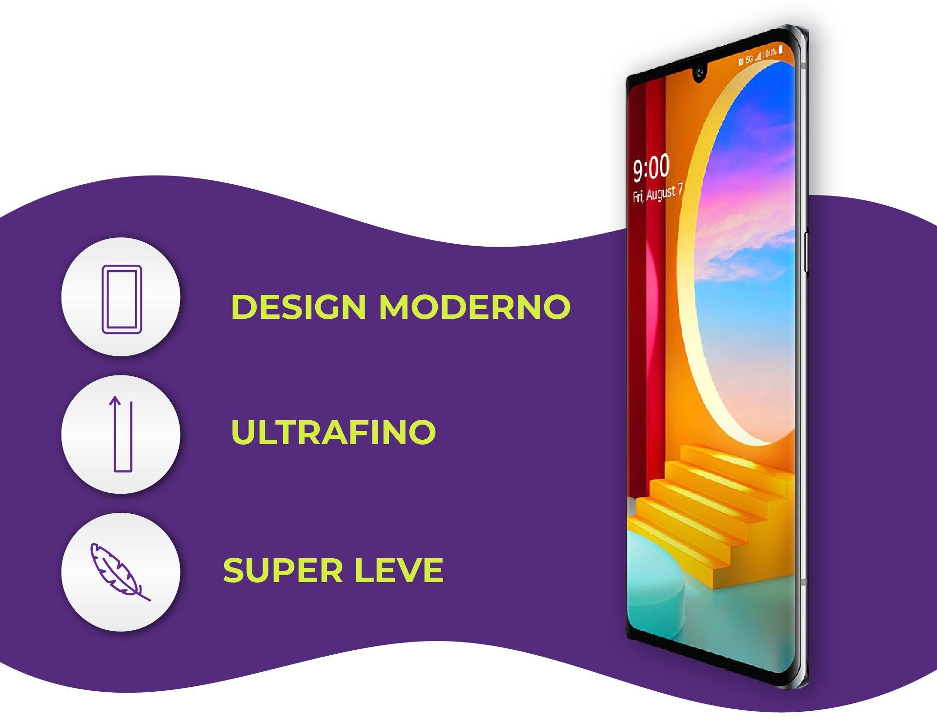 O LG Velvet tem design moderno e sofisticado. (Foto: Divulgação/LG)