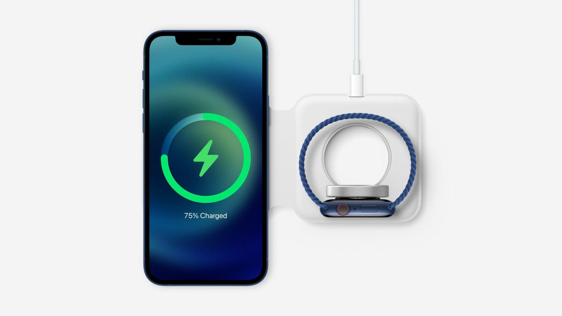 MagSafe Duo Charger carrega iPhone e Apple Watch ao mesmo tempo (Foto: Reprodução/Apple)