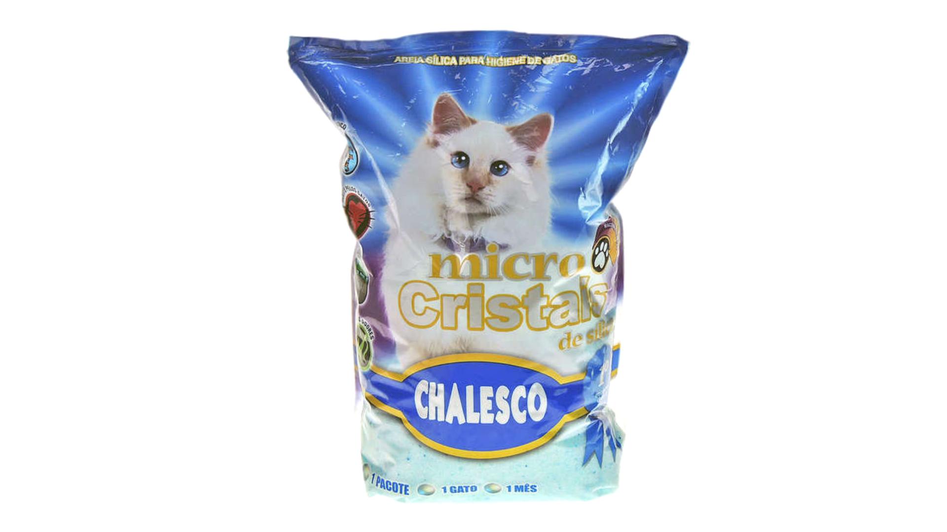 A areia para gato Chalesco tem um ótimo custo-benefício (Imagem: Divulgação/Chalesco)