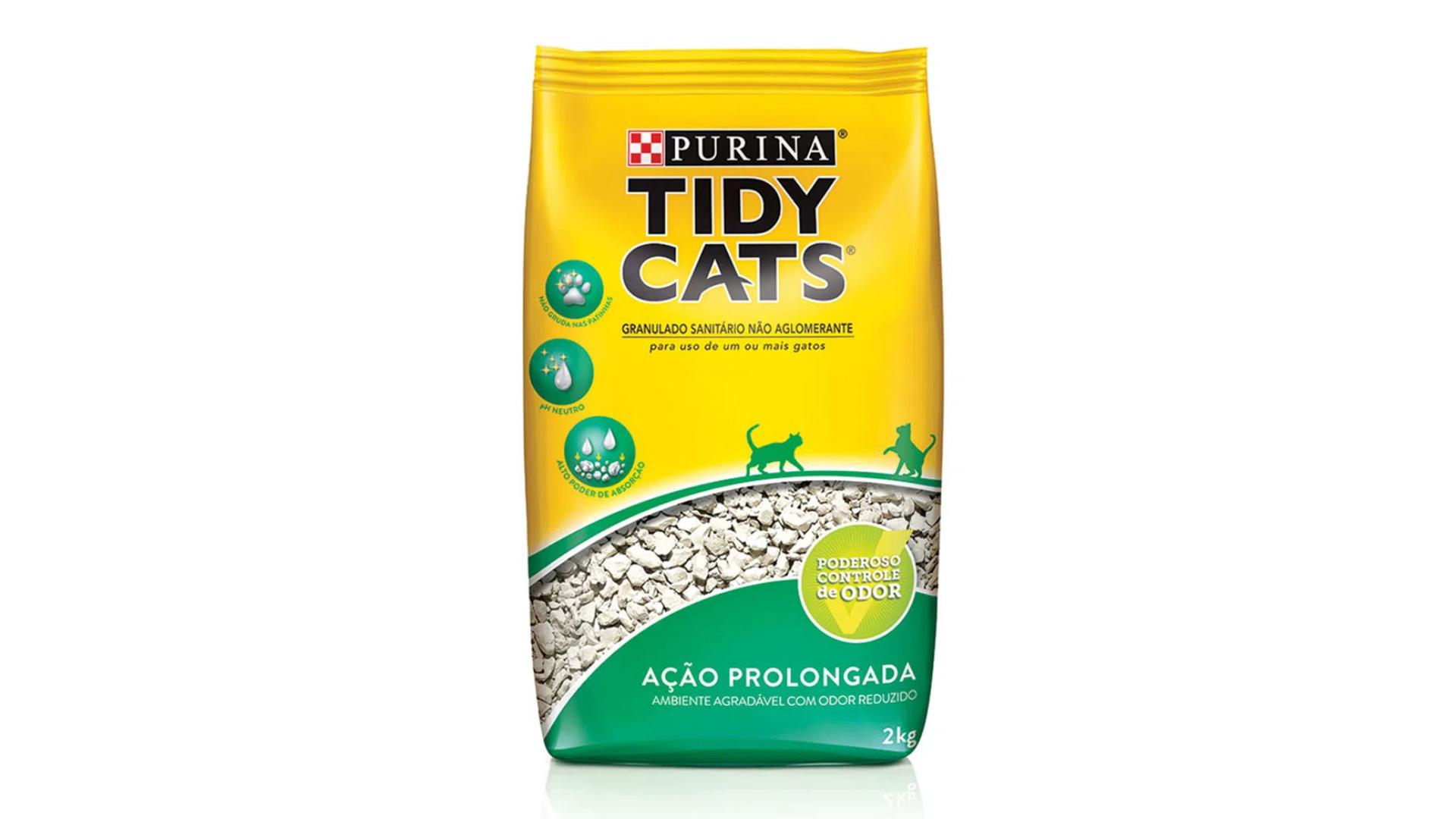 A areia para gato Purina Tidy Cats é boa para felinos em pós-operatório (Imagem: Divulgação/Purina)