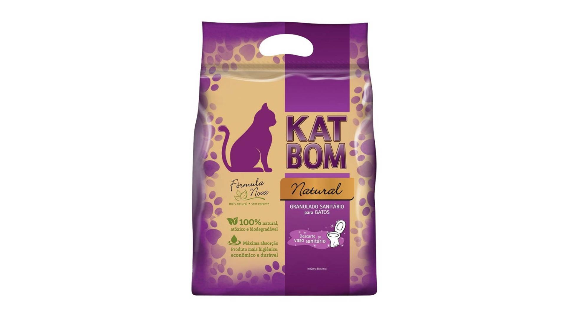 A areia para gato Kat Bom tem um eficaz poder de absorção (Imagem: Divulgação/Kat Bom)