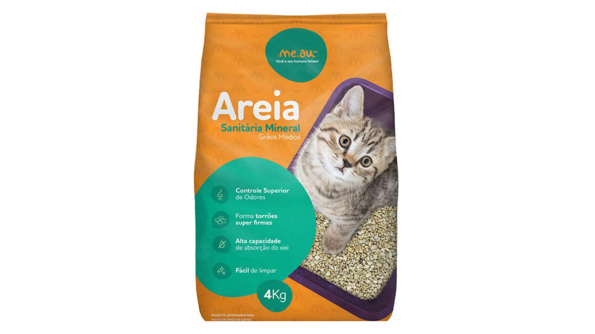 A areia para gato Me.Au Pet controla o odor da urina (Imagem: Divulgação/Me.Au)