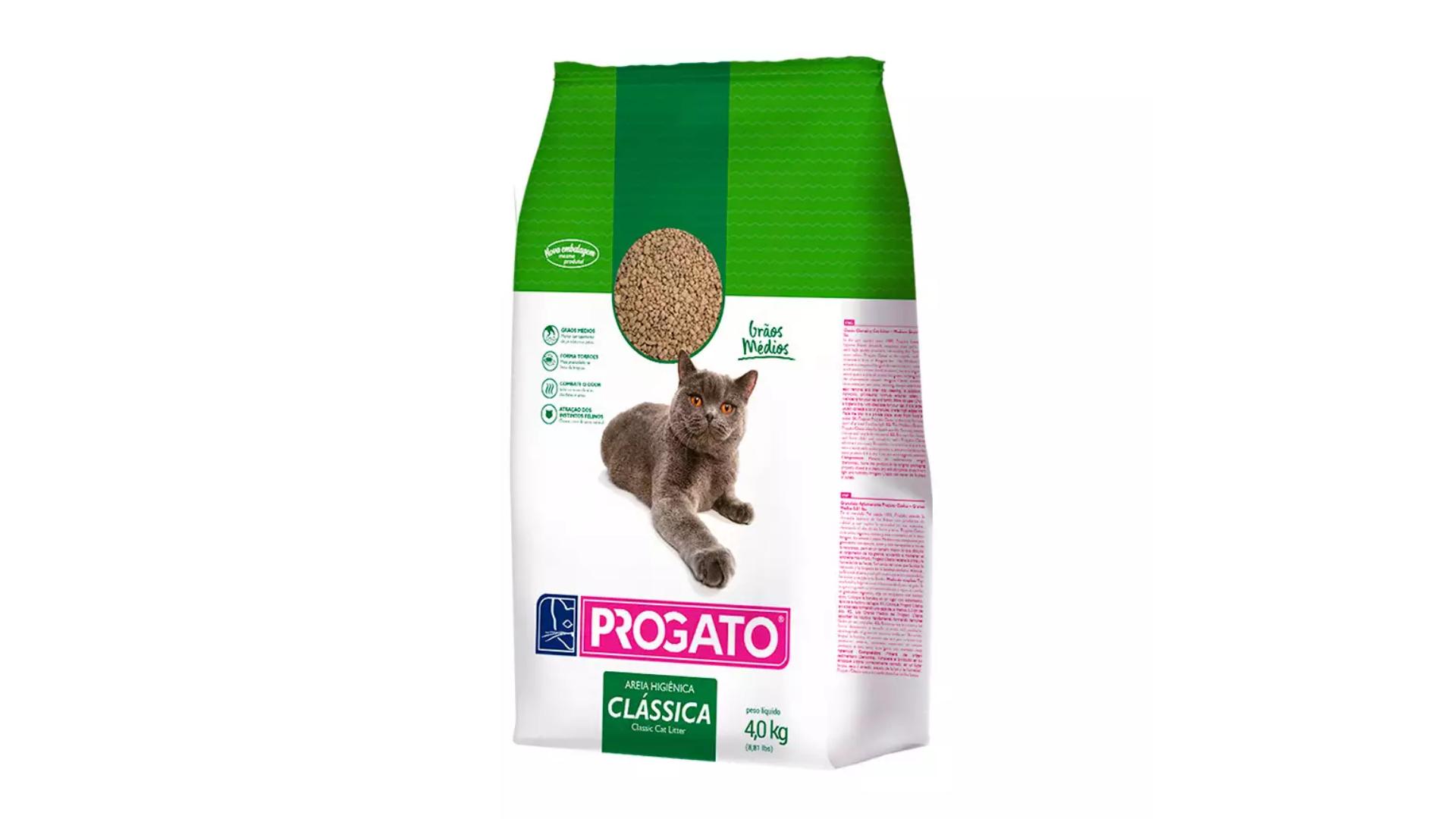 A areia para gato ProGato Clássica evita o mau cheiro da urina e das fezes (Imagem: Divulgação/ProGato)