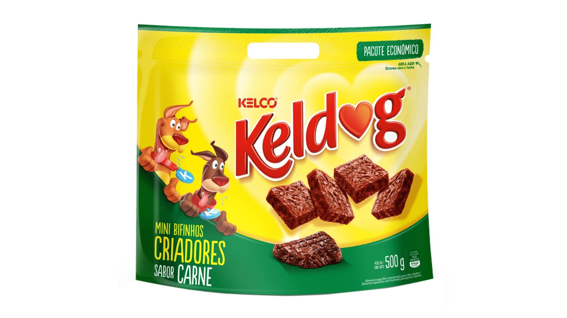 O petisco Keldog Tekinhos é rico em nutrientes, mas é calórico (Imagem: Divulgação/Kelco)