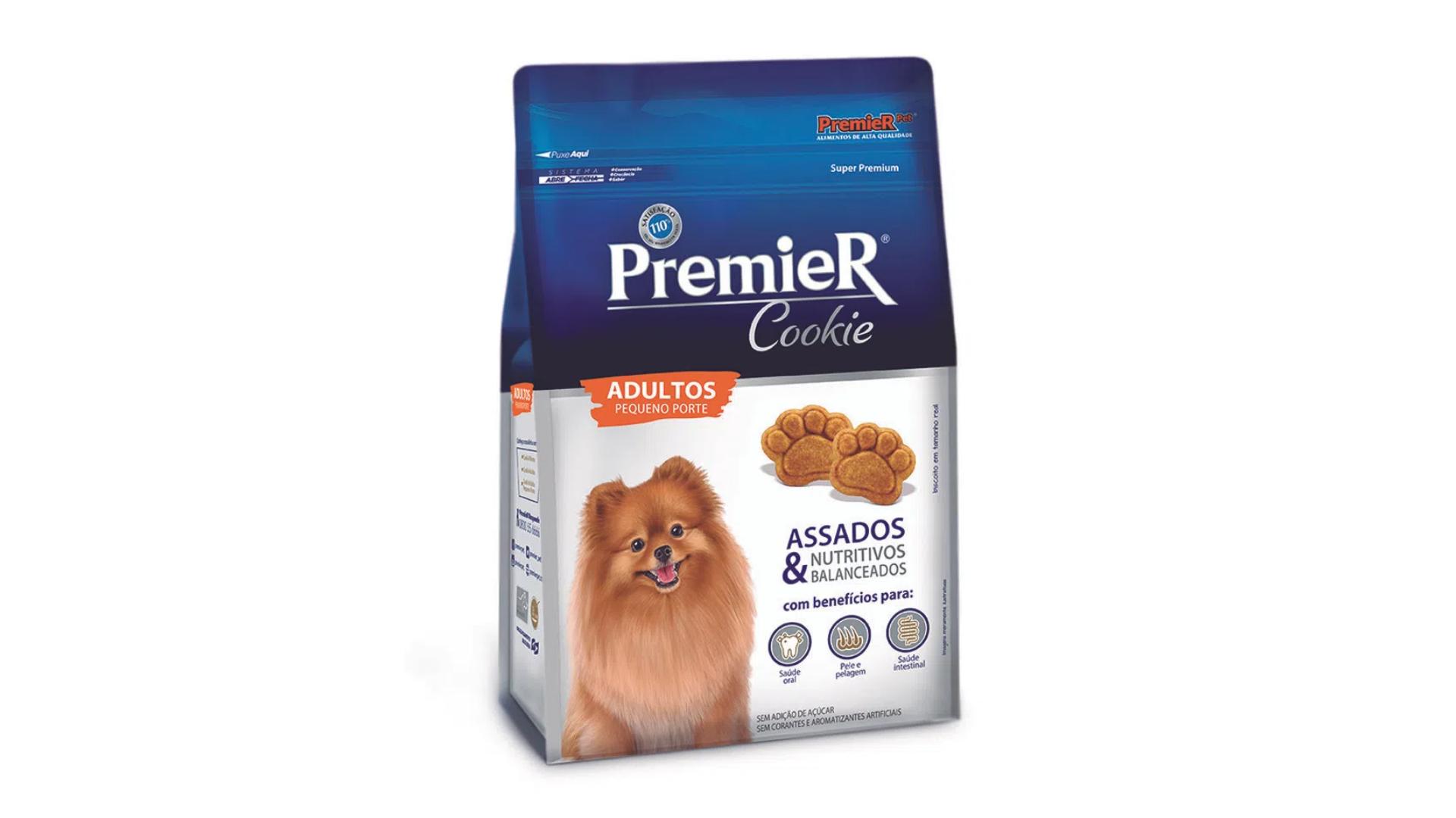 O biscoito PremieR Cookie garante uma pelagem ainda mais brilhante e saudável (Imagem: Divulgação/PremieR Pet)