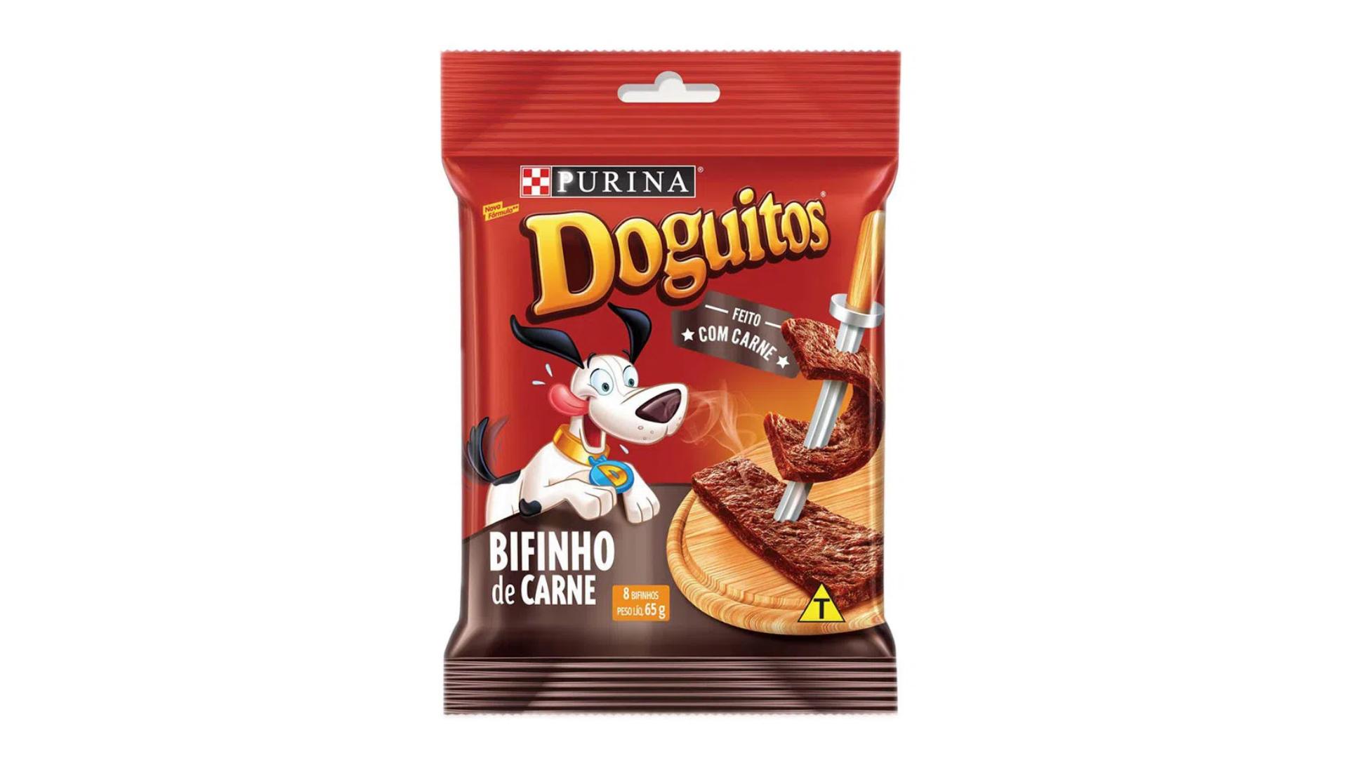 O petisco Purina Doguitos é indicado para todas as idades e portes de cachorro (Imagem: Divulgação/Purina)