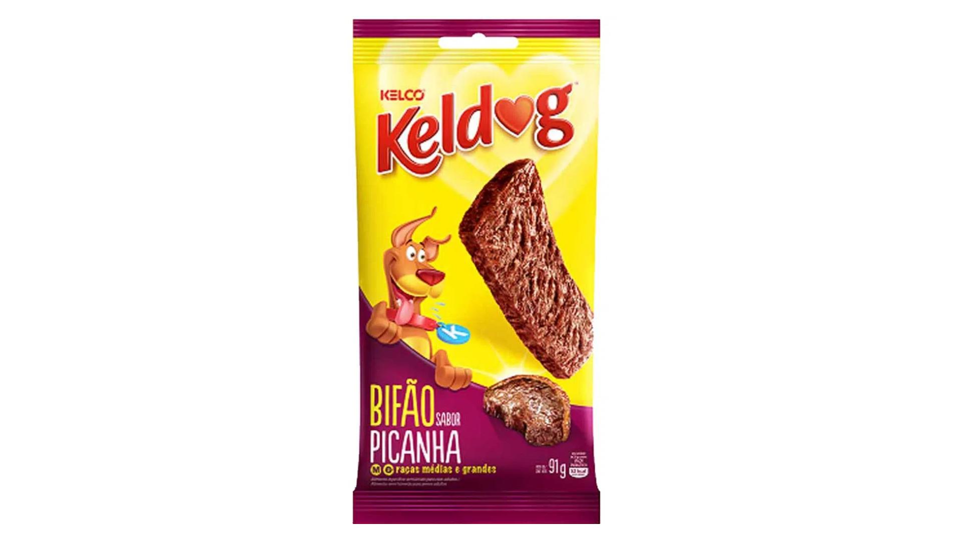O petisco Keldog Bifão tem ingredientes naturais em sua composição (Imagem: Divulgação/Kelco)