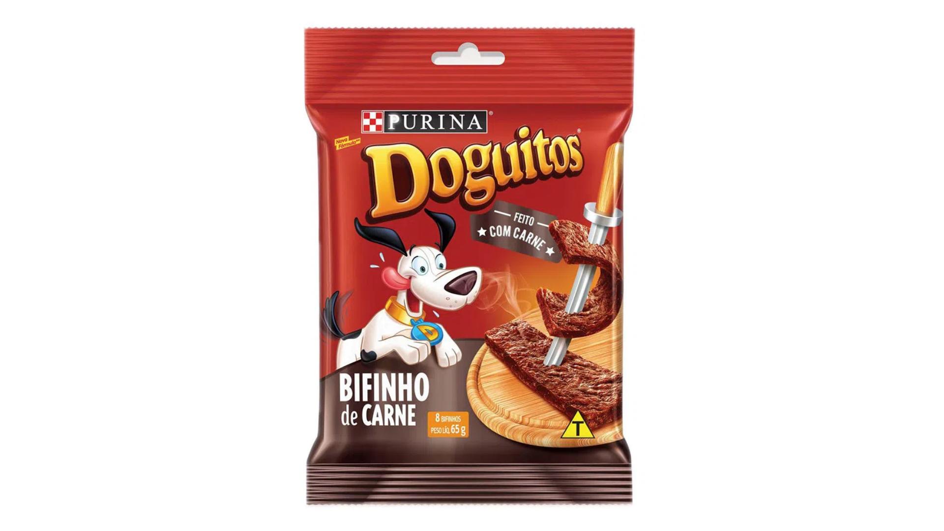 O petisco Doguitos Rodízio é uma boa opção para variar o cardápio dos cãezinhos (Imagem: Divulgação/Purina)
