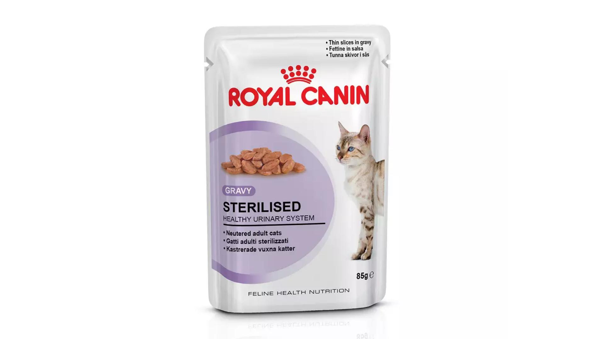 O sachê Royal Canin Sterilised é a opção ideal para gatos castrados (Imagem: Divulgação/Royal Canin)